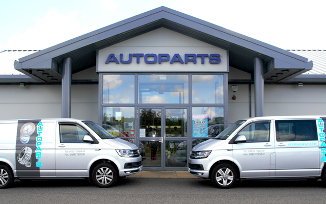 The Autoparts Stornoway shop outlet on Island Road also provides a local distribution service to garages